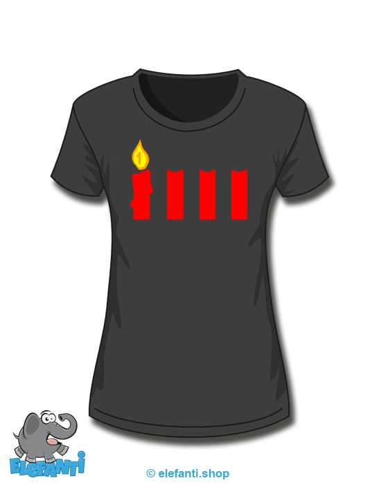 T-Shirt Girl schwarz 1. Advent
