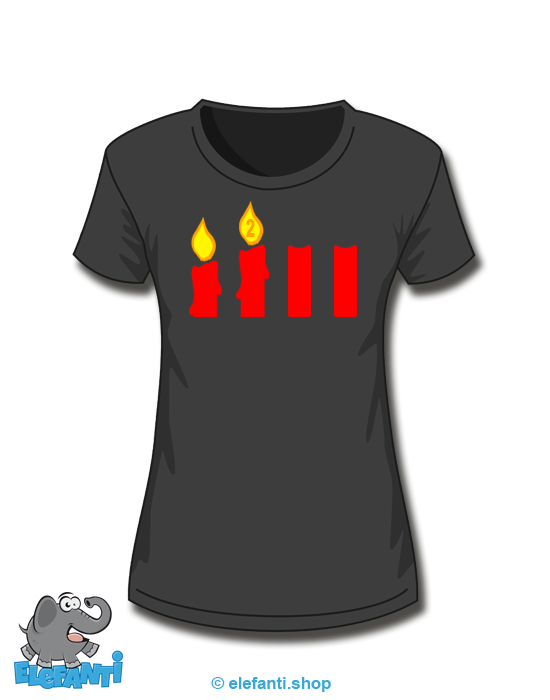 T-Shirt Girl schwarz 2. Advent
