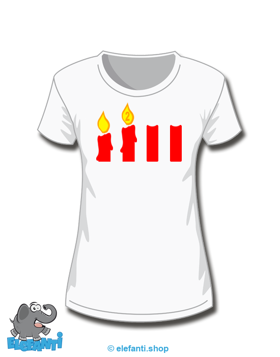 T-Shirt Girl weiss 2. Advent