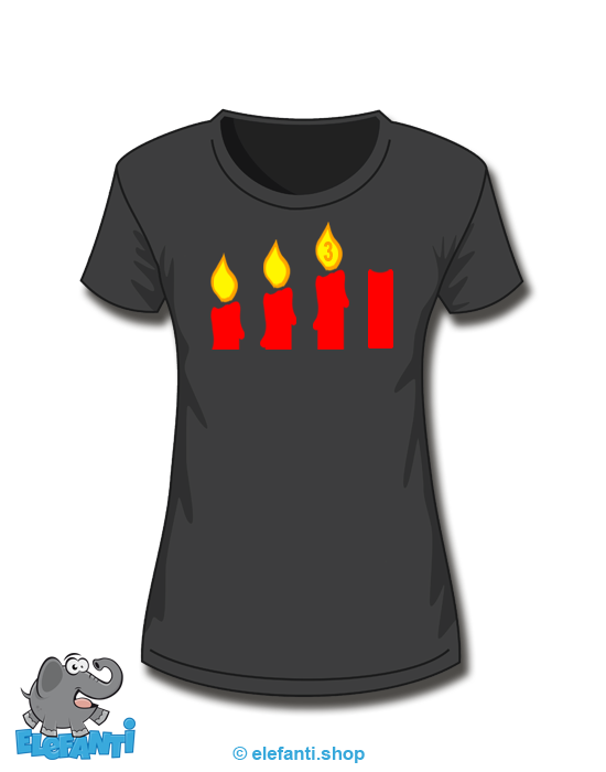 T-Shirt Girl schwarz 3. Advent