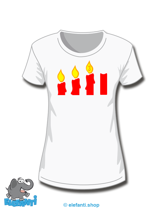 T-Shirt Girl weiss 3. Advent