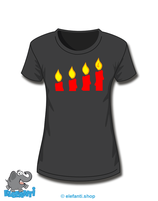 T-Shirt Girl schwarz 4. Advent