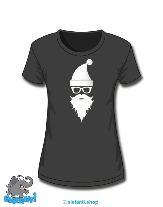 T-Shirt Girl schwarz Samichlaus *glow in the dark*