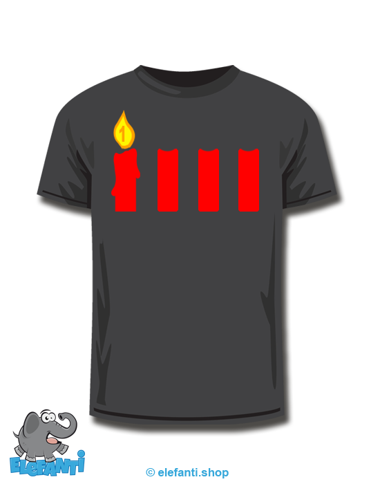 T-Shirt schwarz <br> 1. Advent