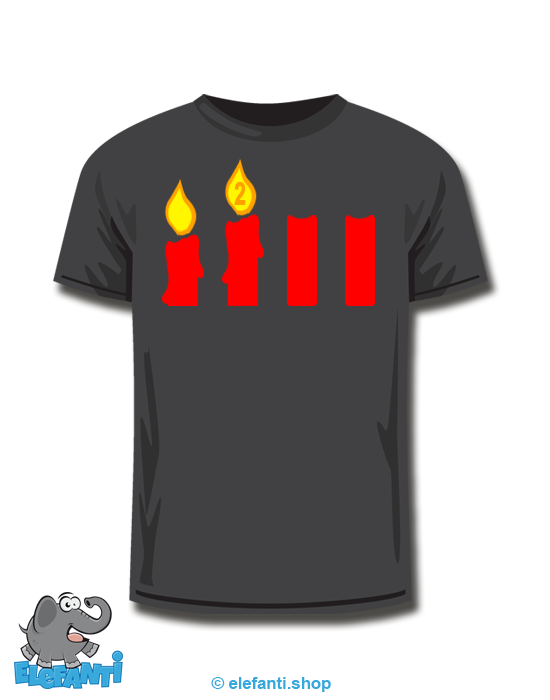 T-Shirt schwarz <br> 2. Advent