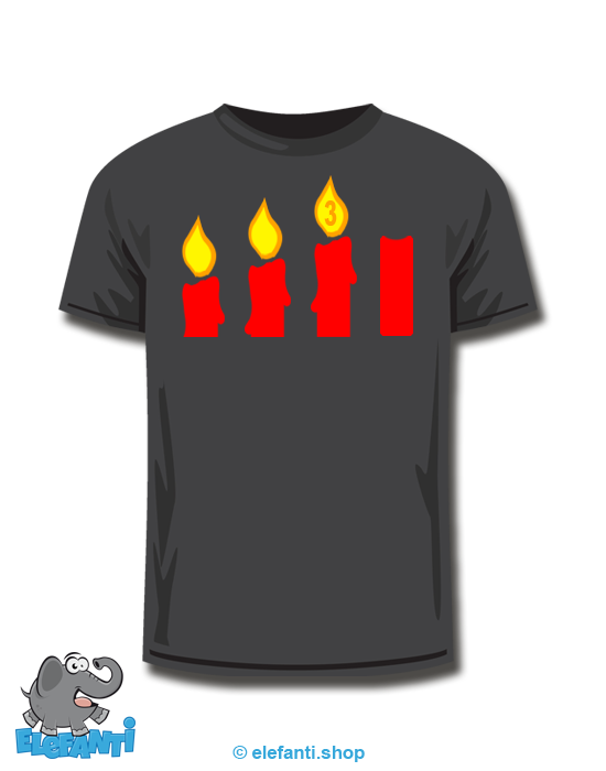 T-Shirt schwarz <br> 3. Advent