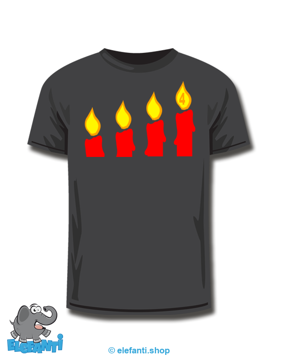 T-Shirt schwarz <br> 4. Advent