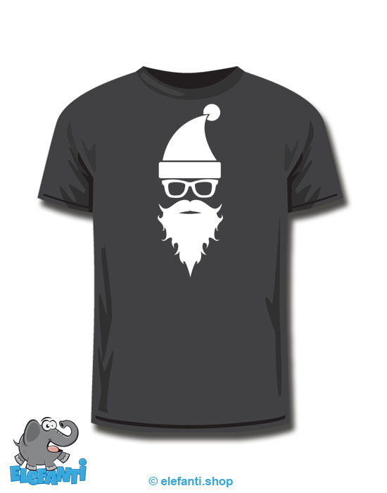 T-Shirt schwarz Samichlaus *glow in the dark*